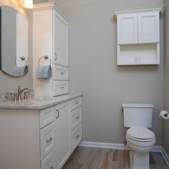maple vanity bathroom remodel union township, nj