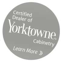 Certified Dealer of Yorktowne Cabinetry - Learn More